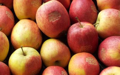 Laserprint op appels